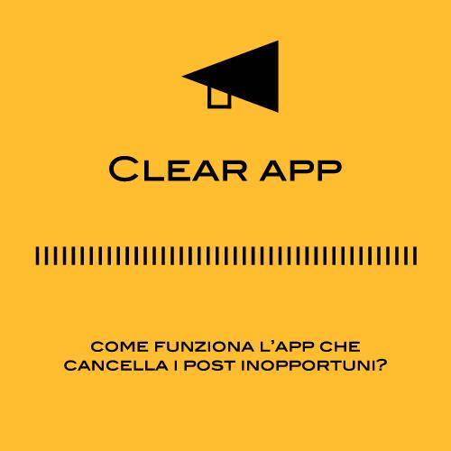 Clear App: app che cancella i post offensivi sui social network