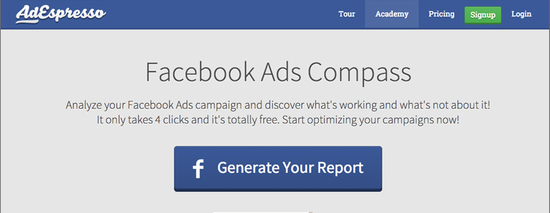 Facebook Analysis Tools: Facebook Ads Compass