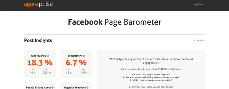 Facebook Analysis Tools: Facebook Page Barometer