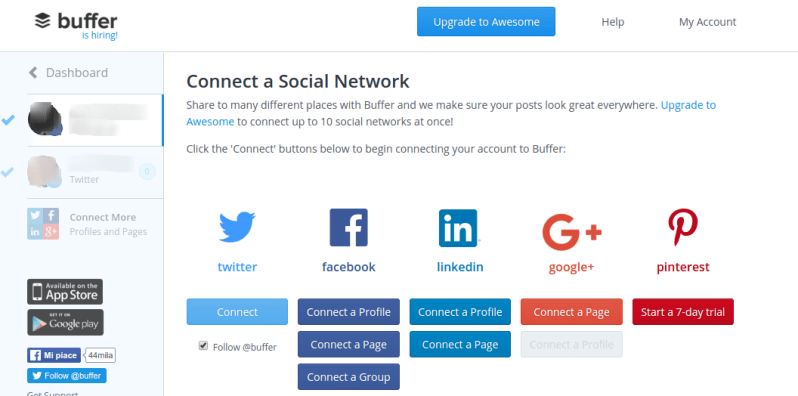 Programmare post Social Media con Buffer