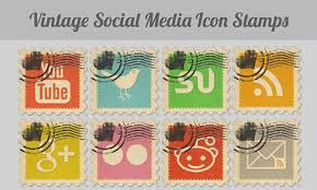 Icone Social Media - Vintage Icon Stamps