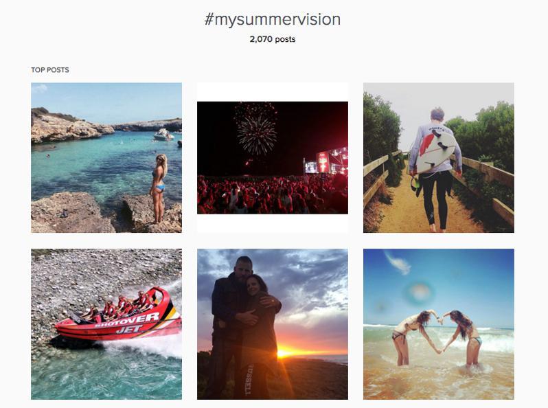 Instagram #mysummervision