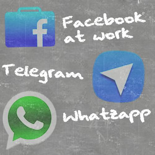 Facebook At work, Whatsapp e Telegram: quale scegliere?