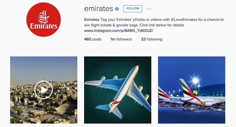 emirates instagram