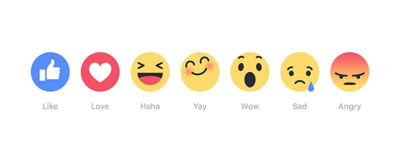 Facebook Reactions: finalmente arrivano le faccine