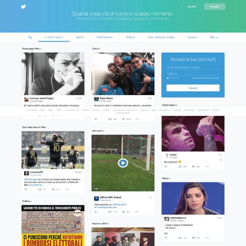 Nuova homepage Twitter: ecco la prima novità del 2016