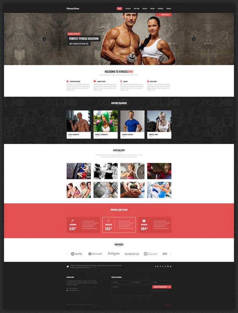 Fitnesstime Landing Page