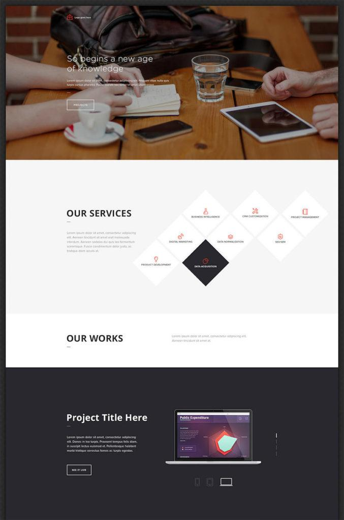 Office Landing Page Design