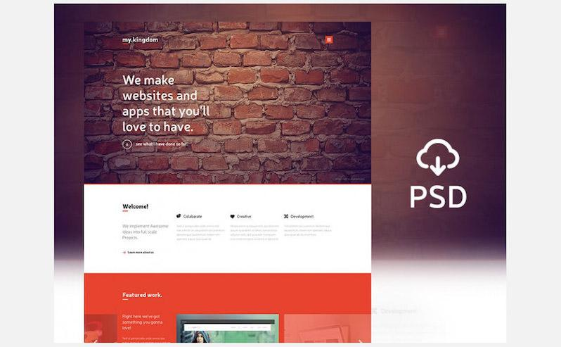 Freebie One Pgae PSD Template
