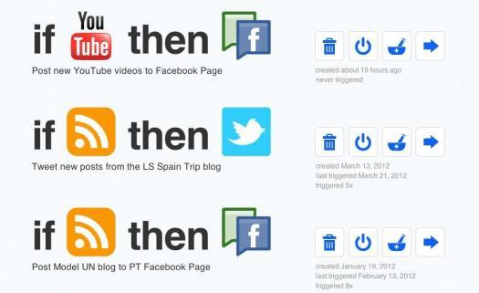 IFTT social media automation tool