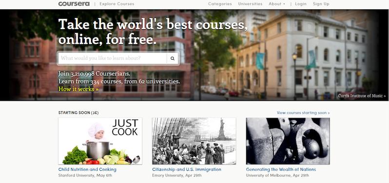 Coursera siti e-learning