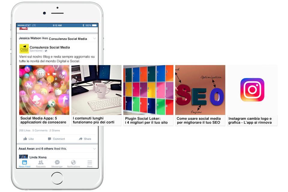 Come usare Inserzioni Carosello Facebook
