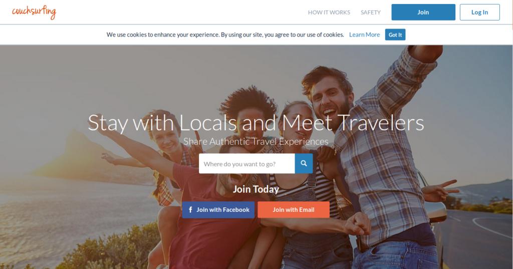 Social Network per Viaggiatori Couchsurfing