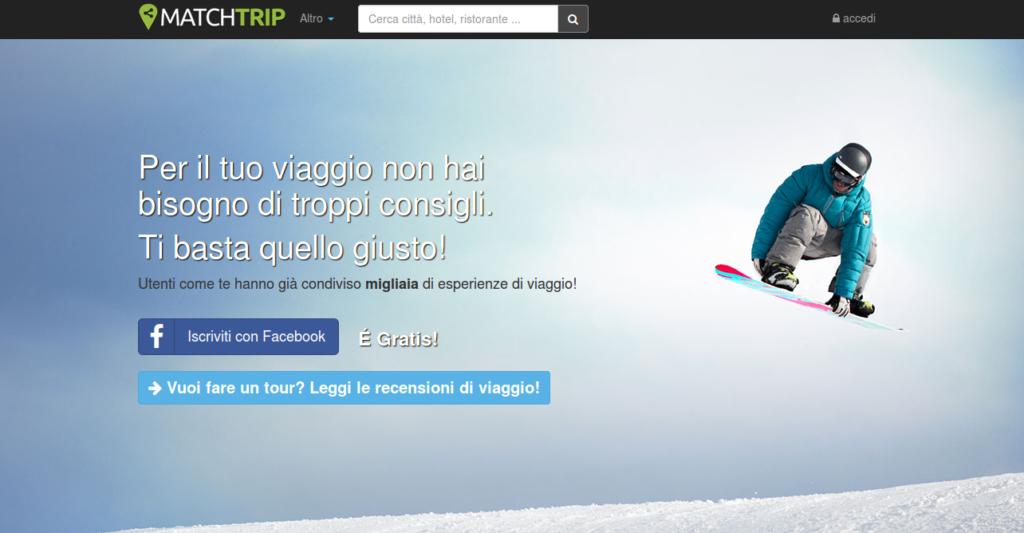 Social Network per Viaggiatori Matchtrip