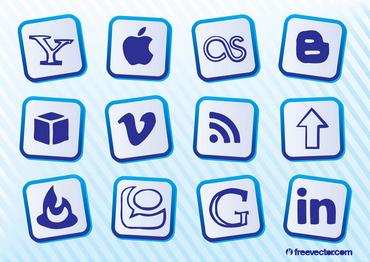 Popular Social Media Buttons