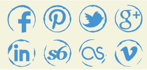 Sketch Social Media Buttons