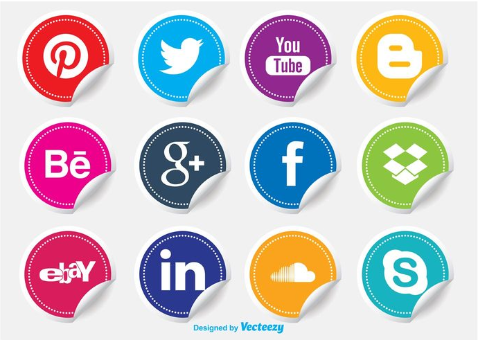 Stickers Social Media Buttons