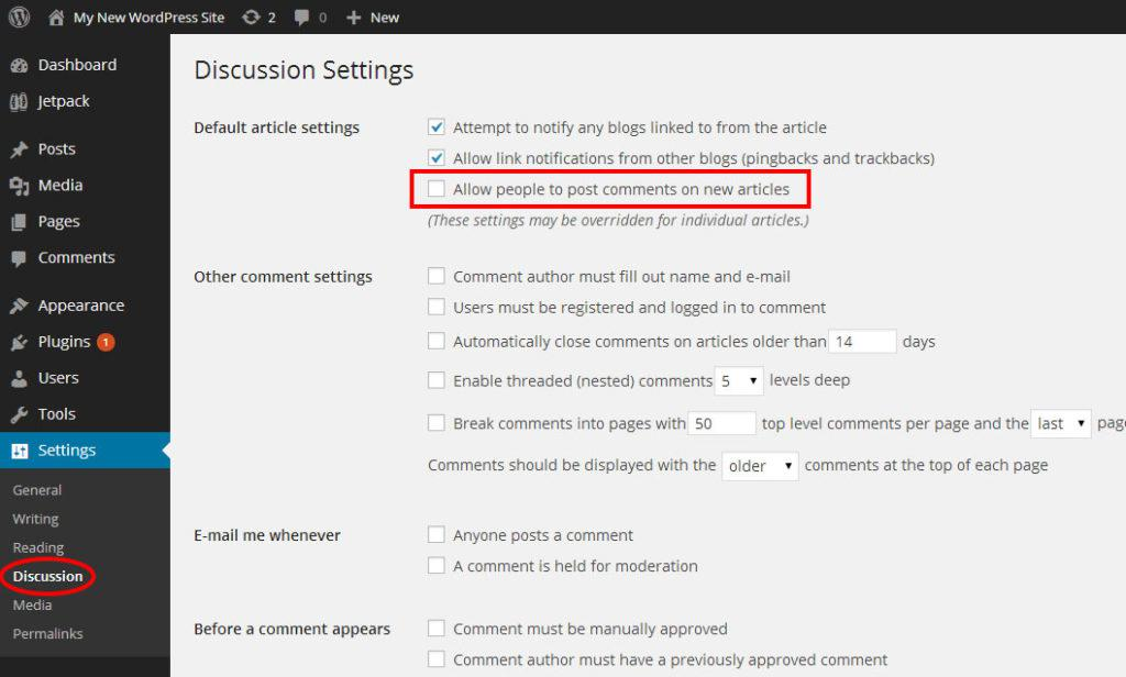 Wordpress-allow-comments