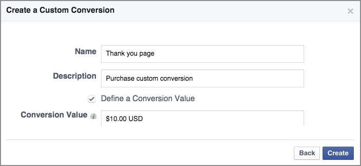 Conversioni Facebook Ads