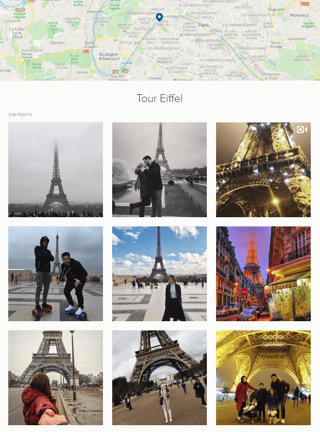 tour Eiffel instagram