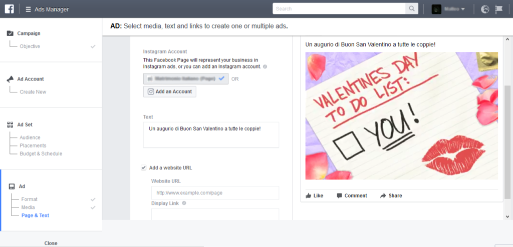 Facebook Ads Gif San Valentino 2