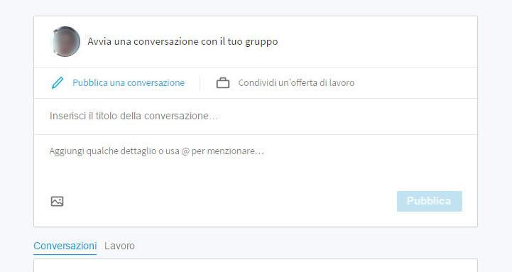 LinkedIn Gruppi conversazioni