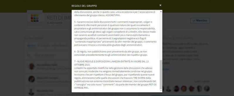 LinkedIn Gruppi regole