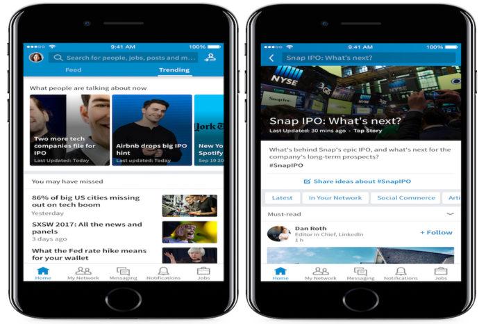 LinkedIn Trending Storylines, arriva la funzione di news sul social network
