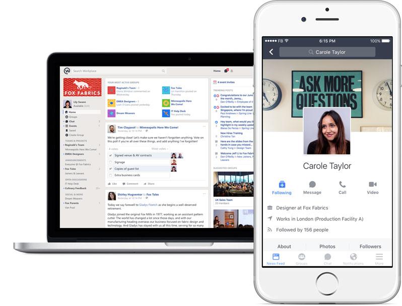 Facebook Workplace utenti