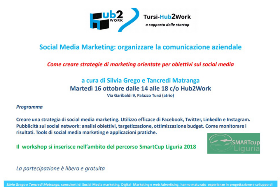 Seminario presso il Comune di Genova - Hub2Work di Social Media Marketing